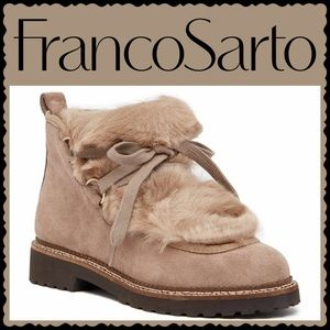 Franco Sarto Highland Faux Fur Trimmed Ankle Boot